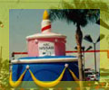 advertising inflatables - Big birthday cake shape cold-air inflatables